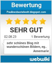 Bewertungen zu paulinesbastelwelt.blogspot.com