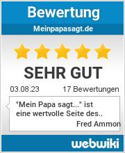 Bewertungen zu meinpapasagt.de