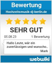 Bewertungen zu hochzeitsmusik-dj-berlin.de