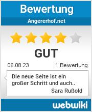 Bewertungen zu angererhof.net