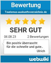Bewertungen zu tourismus-auskunftsverzeichnis.de
