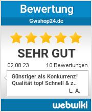 Bewertungen zu gwshop24.de