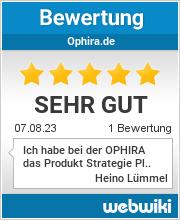 Bewertungen zu ophira.de