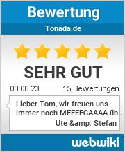 Bewertungen zu tonada.de