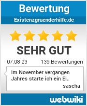 Bewertungen zu existenzgruenderhilfe.de
