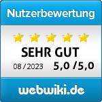 Bewertungs Button für webdesign-klamonfra.de