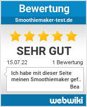Bewertungen zu smoothiemaker-test.de