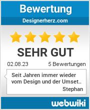 Bewertungen zu designerherz.com