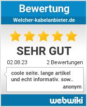 Bewertungen zu welcher-kabelanbieter.de