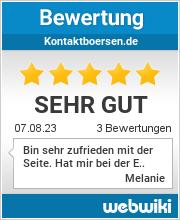 Bewertungen zu kontaktboersen.de