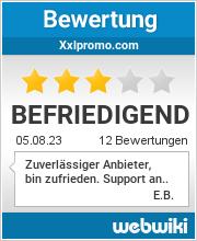 Bewertungen zu xxlpromo.com