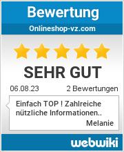 Bewertungen zu onlineshop-vz.com