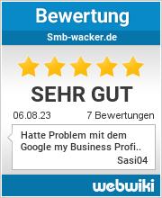 Bewertungen zu smb-wacker.de