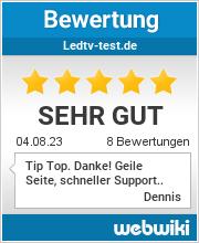 Bewertungen zu ledtv-test.de