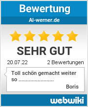 Bewertungen zu al-werner.de