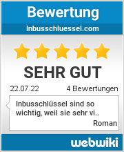 Bewertungen zu inbusschluessel.com