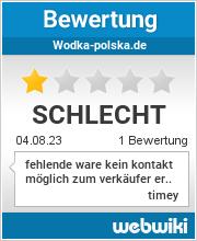 Bewertungen zu wodka-polska.de