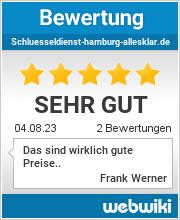 Bewertungen zu schluesseldienst-hamburg-allesklar.de