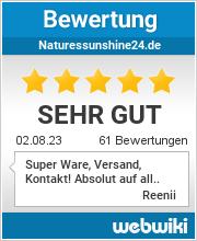 Bewertungen zu naturessunshine24.de