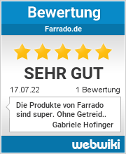 Bewertungen zu farrado.de
