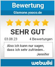 Bewertungen zu glamone.yooco.de
