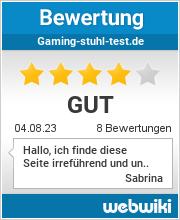 Bewertungen zu gaming-stuhl-test.de