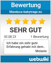 Bewertungen zu manduca-babytrage.eu