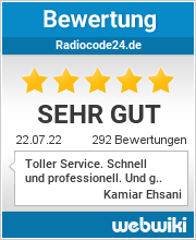 Bewertungen zu radiocode24.de