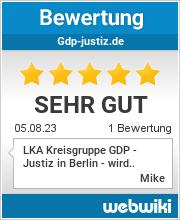 Bewertungen zu gdp-justiz.de