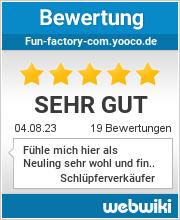 Bewertungen zu fun-factory-com.yooco.de