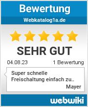 Bewertungen zu webkatalog1a.de