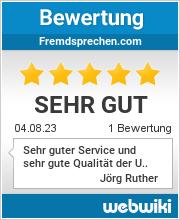 Bewertungen zu fremdsprechen.com