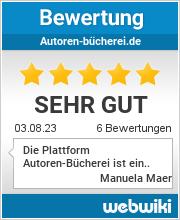 Bewertungen zu autoren-bücherei.de