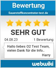Bewertungen zu sauerstoffkonzentrator-test.de