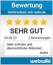 Bewertungen zu gehörschutz-mit-radio.de