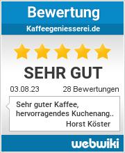 Bewertungen zu kaffeegeniesserei.de