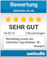 Bewertungen zu allforkids-fm.de