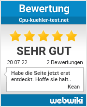 Bewertungen zu cpu-kuehler-test.net