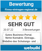 Bewertungen zu firma-eintragen-regional.de