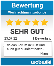 Bewertungen zu weihnachtmann.xobor.de