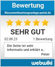 Bewertungen zu wasserenthaertungsanlage-portal.de
