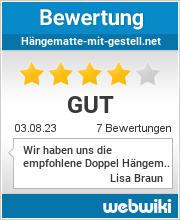 Bewertungen zu hängematte-mit-gestell.net