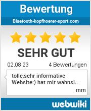Bewertungen zu bluetooth-kopfhoerer-sport.com