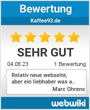 Bewertungen zu kaffee93.de