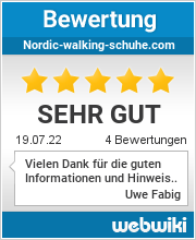 Bewertungen zu nordic-walking-schuhe.com