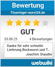 Bewertungen zu thueringer-wurst24.de
