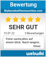 Bewertungen zu mybestekaffeemaschine.com