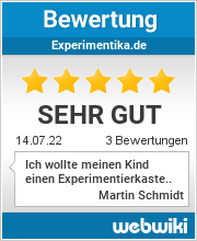 Bewertungen zu experimentika.de