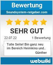 Bewertungen zu soundsystem-ratgeber.com