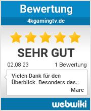 Bewertungen zu 4kgamingtv.de